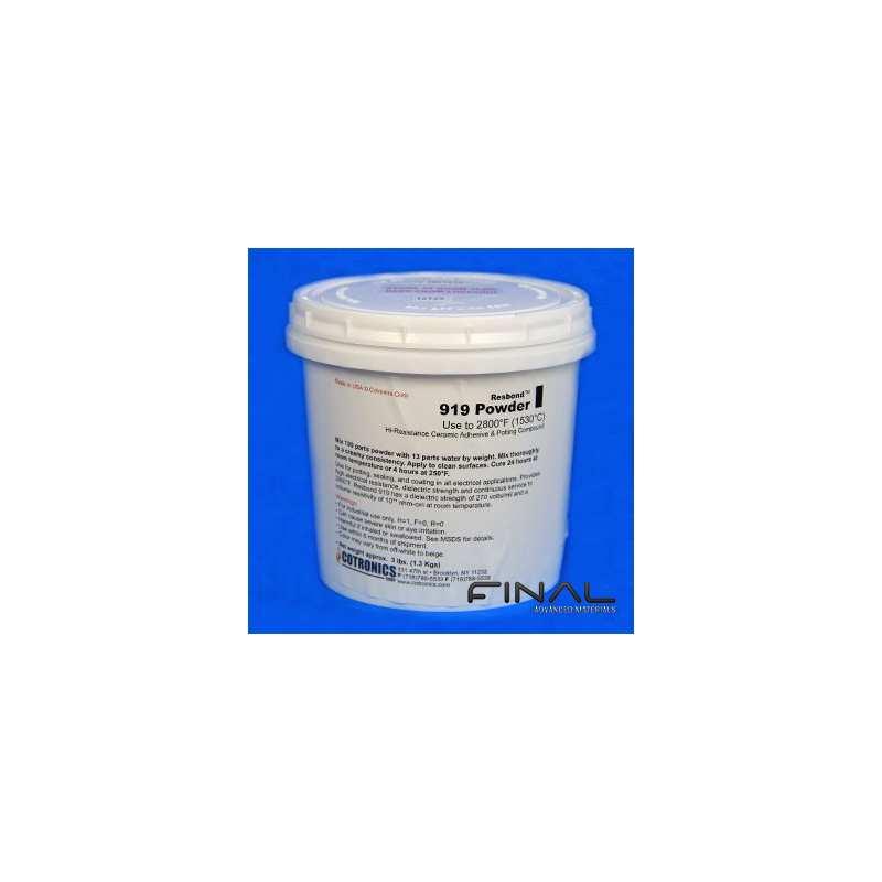 Cotronics Resbond 919 ceramic adhesive magnesia high temperature