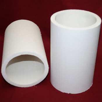 Pièce isolante en fibre silico-alumineuse.