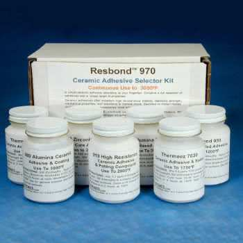 Ceramic adhesive selector kit by Final Adavanced Materials.