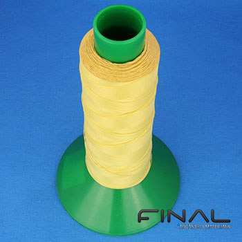 Aramid sewing threads for high temperature.