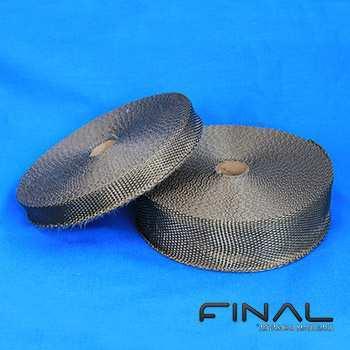 Bande en fibre de basalte pour l'isolation thermique haute temperature