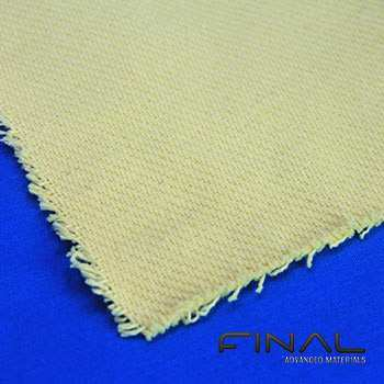 Plain weaved 100% para-aramid fabrics.