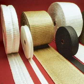 Hochtemperatur Bänder aus Texturierte Glasfaser.