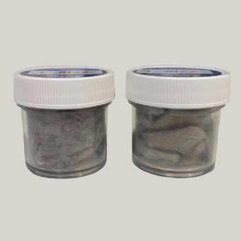 Échantillons de fibre de zircone en vrac.