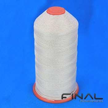 High temperature glass fiber thread