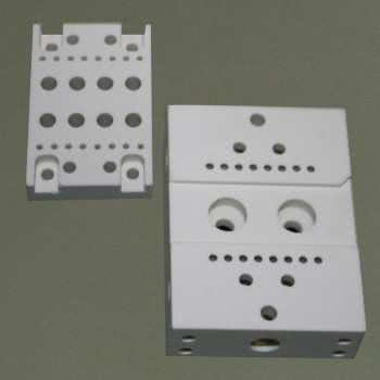 Piece of machinable aluminium nitride ceramic.