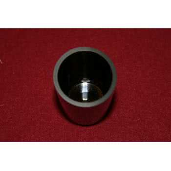 Sintered ceramic vitreous carbon crucible