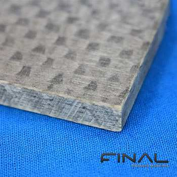 Epoxy glass fibre composite board for high temperature thermal insulation, machinable according to drawings