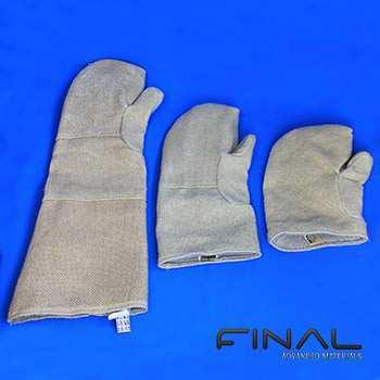 Utilisation de gants pour une manipulation à haute température