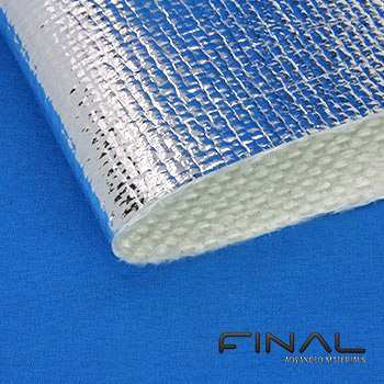 Tissu fibre de verre aluminise protection chaleur radiante