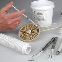High temperature adhesive : Ceramic and epoxy