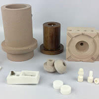 Machinable technical ceramics.
