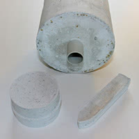 Moulding cement and resin packing.