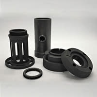 Some machinable graphite parts.