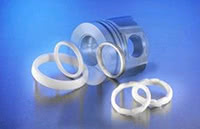 Aluminium titanate sintered ceramic parts.